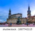 dresden  germany   december 31  ...   Shutterstock . vector #1007742115