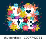 vector poster with colorful... | Shutterstock .eps vector #1007742781