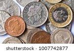 British Coins On White...
