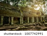 ancient temple of ta prohm in... | Shutterstock . vector #1007742991