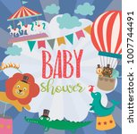 baby shower party invitation... | Shutterstock .eps vector #1007744491