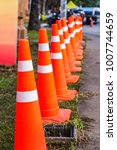 orange traffic cones in the... | Shutterstock . vector #1007744659