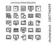 online education related vector ... | Shutterstock .eps vector #1007746099