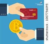 blockchain  bitcoin exchange... | Shutterstock .eps vector #1007756095