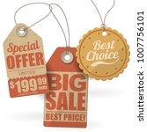 vector set of retro vintage... | Shutterstock .eps vector #1007756101