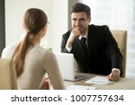 handsome smiling male office... | Shutterstock . vector #1007757634