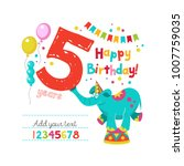 happy birthday  greeting... | Shutterstock .eps vector #1007759035