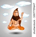 cartoon style indian sadhu... | Shutterstock .eps vector #1007759647