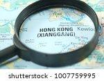 close up of hong kong city...   Shutterstock . vector #1007759995