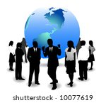 illustration of business people ... | Shutterstock .eps vector #10077619