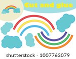 rainbow  education paper game... | Shutterstock .eps vector #1007763079