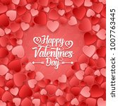 valentine's day background with ... | Shutterstock .eps vector #1007763445