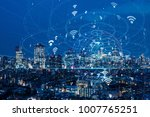 wireless communication network... | Shutterstock . vector #1007765251