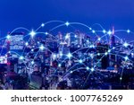 wireless communication network... | Shutterstock . vector #1007765269
