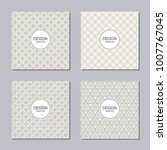 set of 4 creative covers.... | Shutterstock .eps vector #1007767045