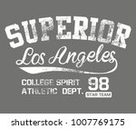 california los angeles graphic... | Shutterstock .eps vector #1007769175