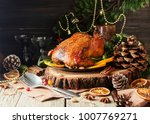 roast chicken or turkey for... | Shutterstock . vector #1007769271