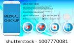 using modern smartphone for...   Shutterstock .eps vector #1007770081