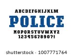 decorative slab serif font in... | Shutterstock .eps vector #1007771764