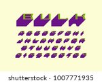 decorative sans serif extra...   Shutterstock .eps vector #1007771935