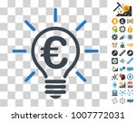 euro idea bulb pictograph with... | Shutterstock .eps vector #1007772031