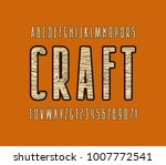 decorative sans serif font with ...   Shutterstock .eps vector #1007772541