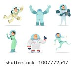 space characters. mascots of... | Shutterstock .eps vector #1007772547