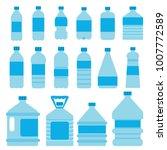 set of plastic bottles for... | Shutterstock .eps vector #1007772589