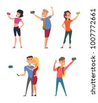 different funny characters make ... | Shutterstock .eps vector #1007772661