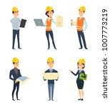 industrial workers. male and... | Shutterstock .eps vector #1007773219