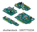 different computer boards with... | Shutterstock .eps vector #1007773234