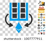 ethereum mining farm icon with...