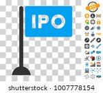 ipo rectangle flag icon with...