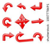 red 3d arrows. different... | Shutterstock .eps vector #1007778691
