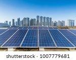solar and modern city skyline   | Shutterstock . vector #1007779681