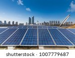 solar and modern city skyline   | Shutterstock . vector #1007779687