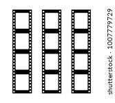 set of vector filmstrips.... | Shutterstock .eps vector #1007779729