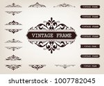 vintage frame with beautiful...   Shutterstock .eps vector #1007782045