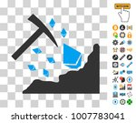 ethereum mining hammer icon... | Shutterstock .eps vector #1007783041