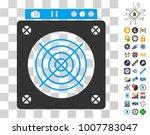 mining asic hardware icon with...