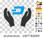 dash care hands pictograph with ...