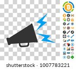 alert megaphone icon with bonus ... | Shutterstock .eps vector #1007783221