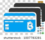 bitcoin banking cards icon with ...