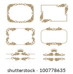 vector set of decorative... | Shutterstock .eps vector #100778635