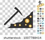mining bitcoin rocks pictograph ...