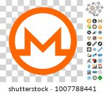 monero currency pictograph with ...