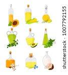 vegetable oil set  different...   Shutterstock .eps vector #1007792155