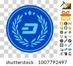dashcoin coin pictograph with...