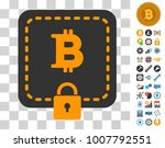 bitcoin purse icon with bonus...