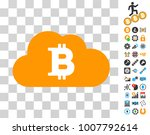 bitcoin cloud pictograph with...